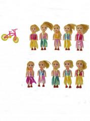 Кукла мал.9см с велосипедом BJ024(95933)(1920шт/ящ2) в пакете 14*11см
