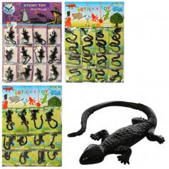 Игра-липучка 1102-8901 (1200шт) от18см,тянется,микс вид(змея,мышь,ящерица),12шт на листе,29-43-1,5см