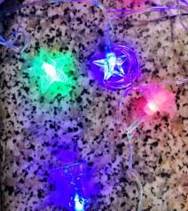 Гирлянда 20 ламп. мультицвет, микс, в пак.(5716-5720)