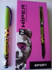 Ручка масл.Hiper Sport HO-150 0,7мм фіолетова 10шт/уп ПРОДАЁТСЯ УПАКОВКАМИ