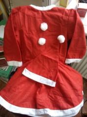 """Костюм """"Дед Мороз"""" S337 (7-9лет) для девочки"""