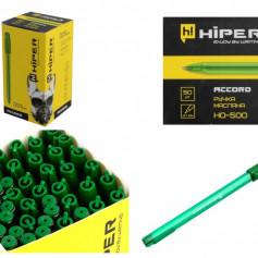 Ручка масл.Hiper SHARK HO-200 0,7мм зелена