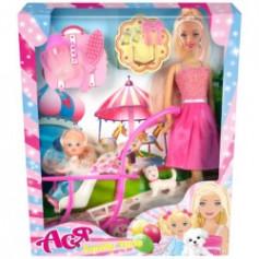 Лялька Ася з аксесуарами 35087, семейный досуг, 26*6*32,5, две куклы 28см и 11см,