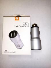 Зарядка для авто WUW Car Fast ChargerC87(Silver) 44