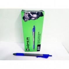 Ручка масл.Hiper Accord Grip HА-140RT авт.тригран. 1мм синя 10шт/уп