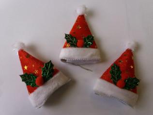 Заколки - шапочки со снежинками, листочками 8015, 9см 20шт/уп