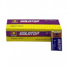 Батарейки 6F22-9V-G GOLDTOP крона 9v 10шт в кор. (500)