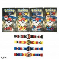 Часы-конструктор BT-PG-0012 Pokemon GO 4в.лист.7,5*4 /960/