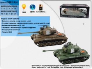 Танк р/у аккум 9362-3/4 (YH4101-3/4) (6шт) 2вида,пульт на батар.,в кор. 53*25*21см