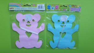 Гірлянда ведмедик 3м. Кольори рожевий та блакитній микс 8434 2вида