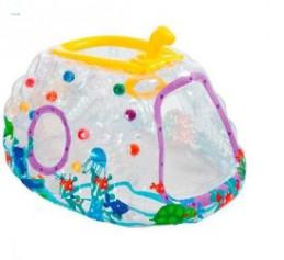 """Игровой центр надувн. 48664(3-6 лет) 174*122*89см(3шт)""""Субмарина""""винил,пластик.мячики,рем комплект"""