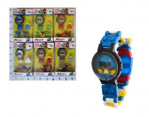 Конструктор-часы 863002 (1518427)(600шт/3) 6 видов, в коробке 7*3*12см