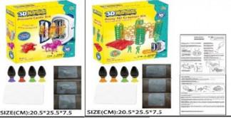Набор ручка 3D LM111-2C/2B(24шт)2 вида микс,4 цвета гель,формы для запек,в короб.20.5*25.5*7.5 см