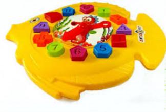 "Игра ""Рыбка"", 40-001 часы, сортер, 31*29см, в пакете (25шИгра """