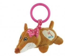 Іграшка плюшева з вібрацією - Лисичка рожева STK-17755P -17755P