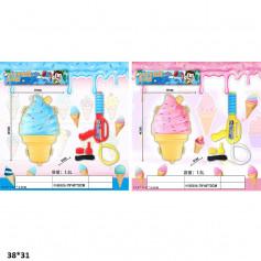 Водяное оружие 30см JC19-97/98 мороженое с рюкзаком для воды пак.38*31 /72/
