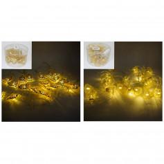 Гирлянда - золото, мультицвет 20ламп колокольчикот сети (0012)