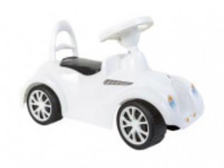 Машинка для катання РЕТРО біла900, 68x28x27 см