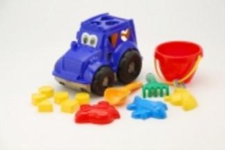 """Сортёр-трактор """"Кузнечик"""" 3 (0343), 265*155*225мм, 24шт в уп (сетка)"""