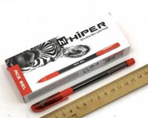 Ручка гелева Hiper Ace Gel HG-125 0,6 мм (красная), 10 шт/уп