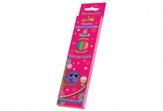 Олівці пластикові кольорові 6 кол, яскраві кольори корпусу, KIDIS Cute little own 7959